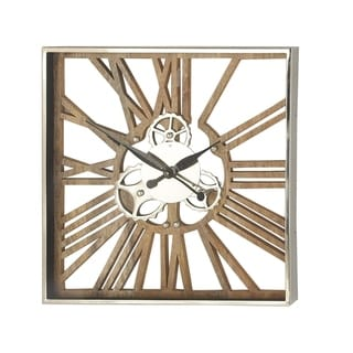 Link to Industrial 24 x 24 Inch Square Gear Wall Clock Similar Items in Decorative Accessories