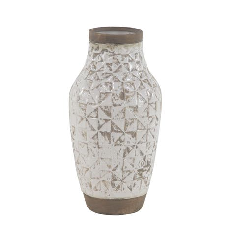 The Gray Barn Coconut Grove White Stoneware Vase