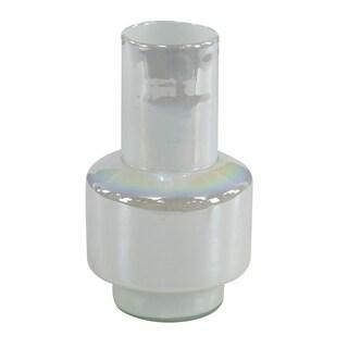 Clay Alder Home Mendota Eclectic White Handmade Glass Bud Vase