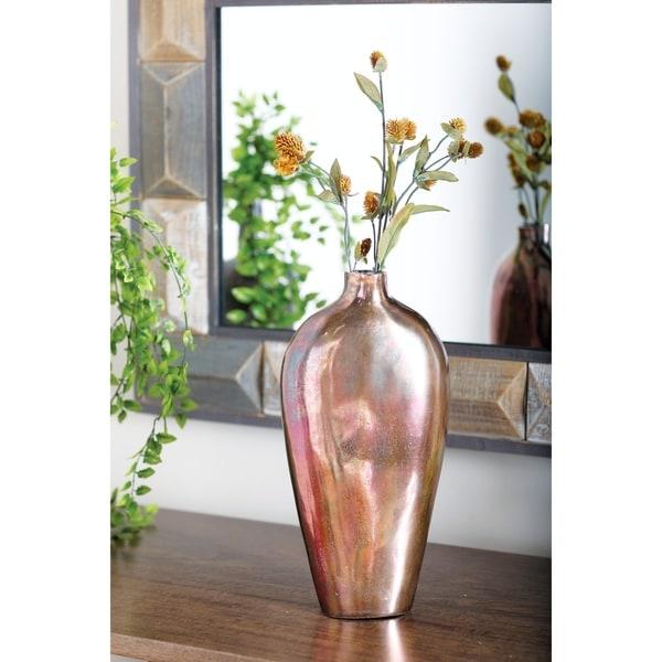 Contemporary 16 x 8 Inch Aluminum Flower Vase