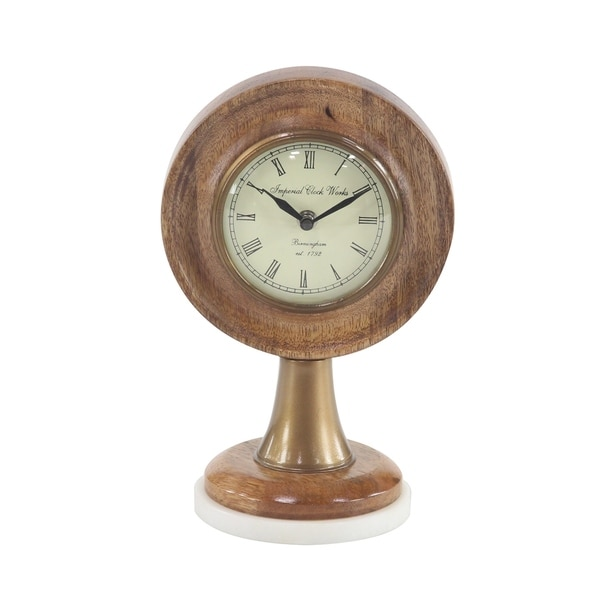 Rustic Table Clock: Shop Rustic 10 X 7 Inch Stained Brown Wooden Framed Table