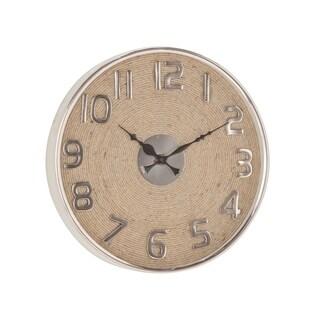 Modern 13 x 13 Inch Round Wall Clock