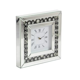 Modern 13 x 13 Inch Square Wood Analog Wall Clock