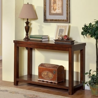 Furniture of America Ambelle Transitional Dark Cherry Sofa Table