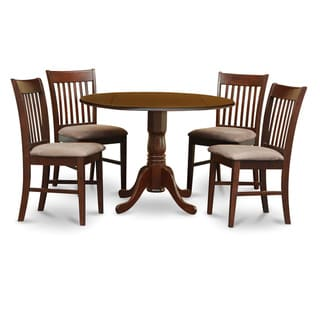 Copper Grove Crychan Mahogany Round Table and Dinette Chairs 5-piece Dining Set