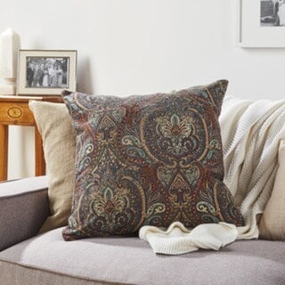 Copper Grove Standish Raj Damask Throw Pillow