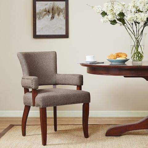 """Copper Grove Cobleland Brown Arm Dining Chair - 24""""w x 25.5""""d x 35""""h - 24""""w x 25.5""""d x 35""""h"""