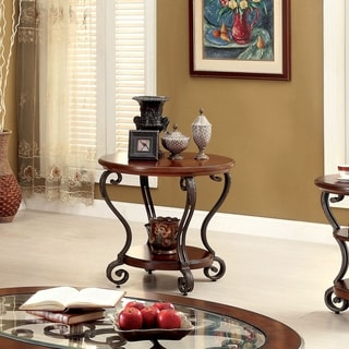 Copper Grove Finnich Elegant Round Top End Table
