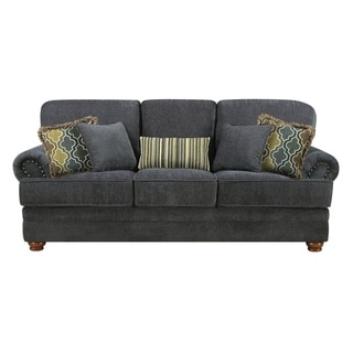 Copper Grove Gloucester Grey Chenille Loveseat or Sofa