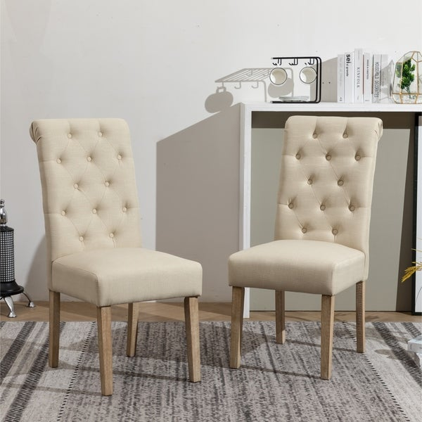 Copper Grove Schwalbach Upholstered Parsons Dining Chairs (Set of 2)
