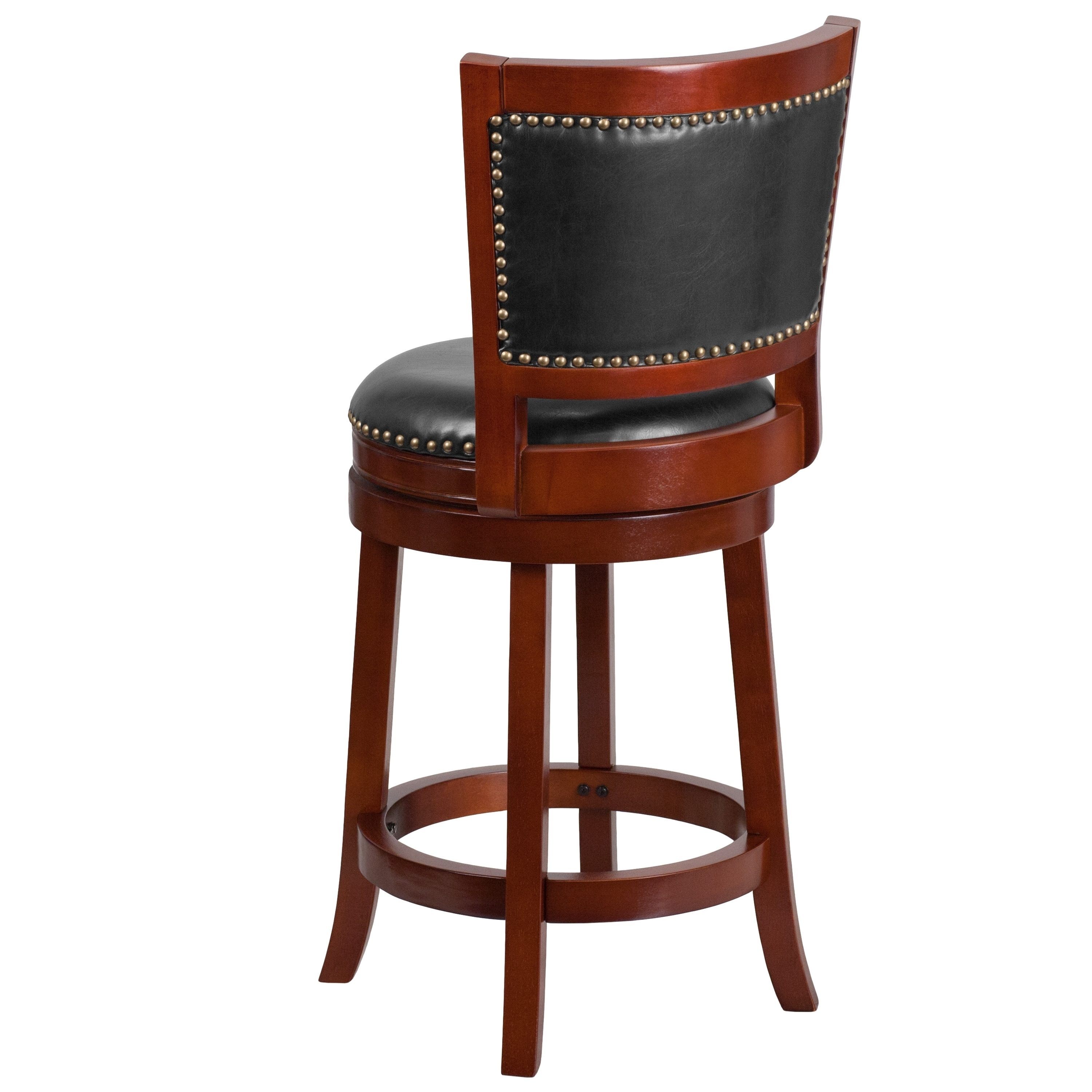 Astounding Copper Grove Blackmuir 26 Inch High Wood Counter Height Stool With Leather Swivel Seat Ocoug Best Dining Table And Chair Ideas Images Ocougorg