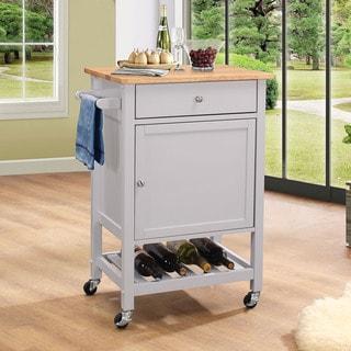 Porch & Den Scotsmeadow Grey MDF Kitchen Cart