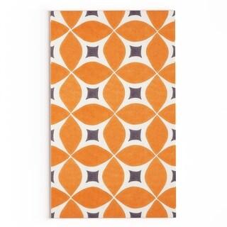 Palm Canyon Plaza Handmade Orange Area Rug (3' x 5')