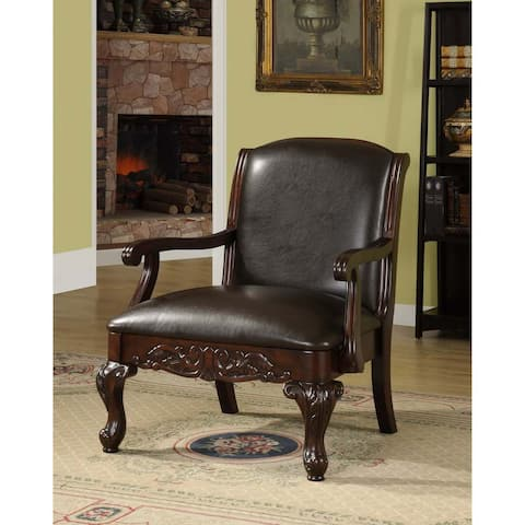 Furniture of America Alcor Traditional Dark Cherry Accent Chair