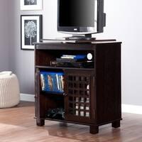 Copper Grove Tahoe Espresso Swivel Top TV Stand