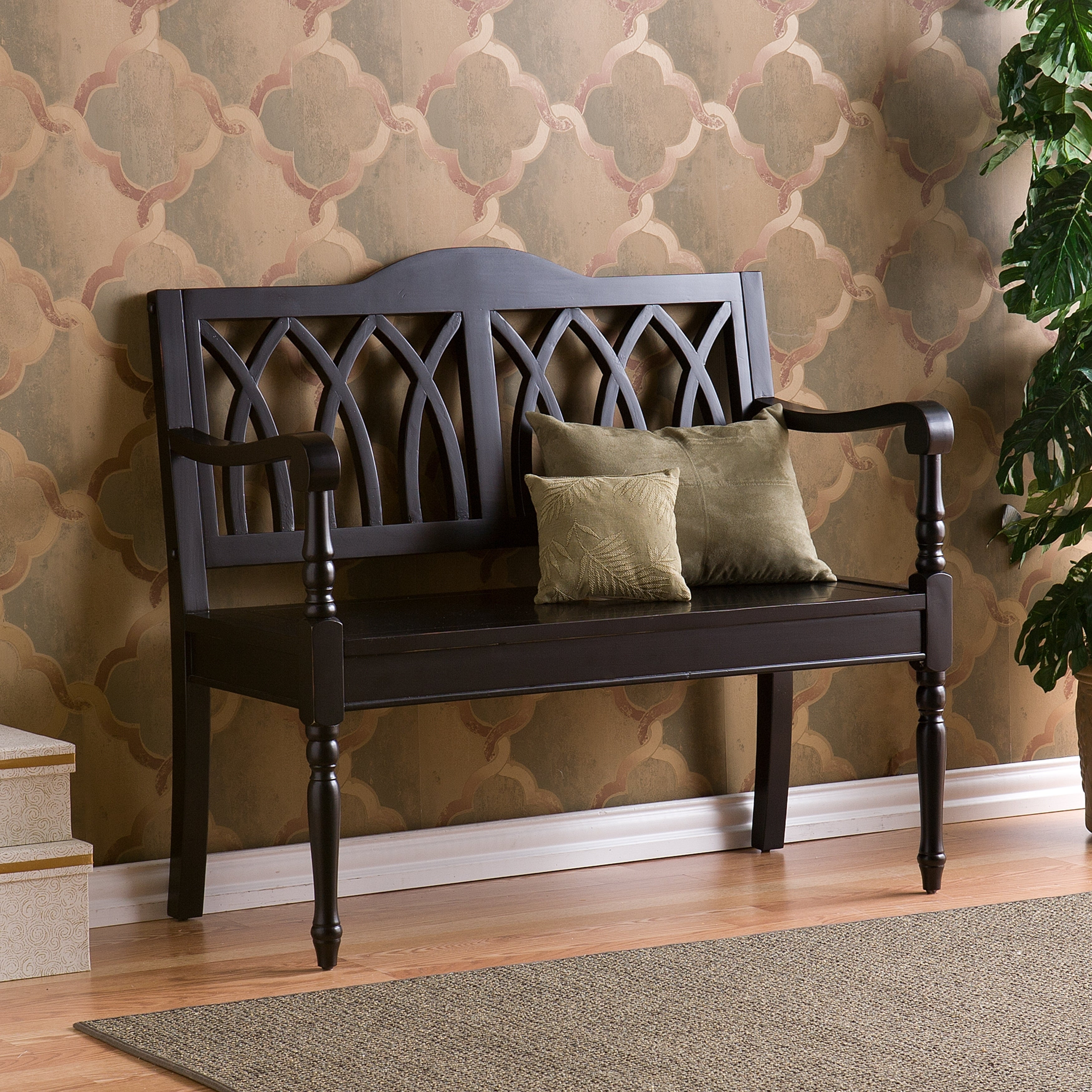 Details About Wood Bench Seat Indoor Entryway Hallway Bedroom Accent Furniture Antique Black