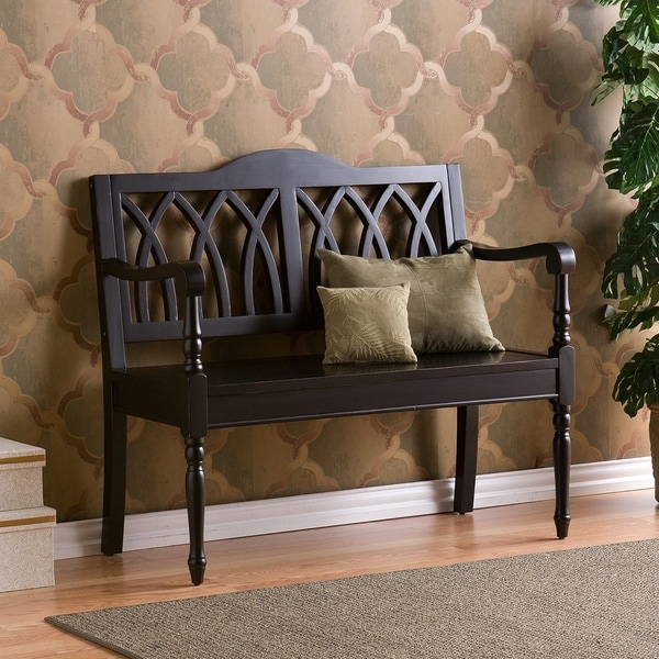 Copper Grove Summerhill Antique Black Finish Wood Bench. Opens flyout.