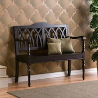 Harper Blvd Loma Antique Black Finish Wood Bench