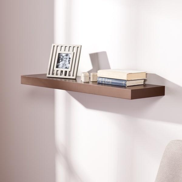 Porch & Den R Street 36-inch Chocolate Finish Floating Shelf