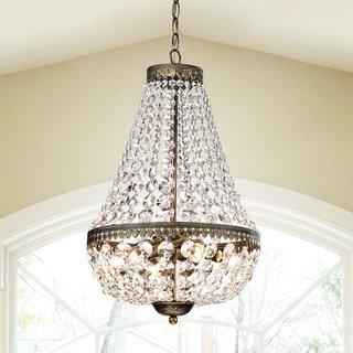 Gracewood Hollow Poradeci Symmetric 6-light Antique Copper Chandelier