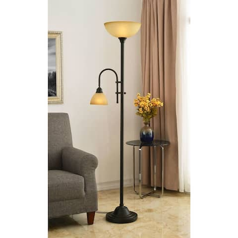 Copper Grove Kinver 2 Light Bronze 72-inch Torchiere