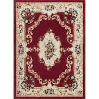 Copper Grove Tunxis Traditional Red Area Rug - 7'6 x 9'10