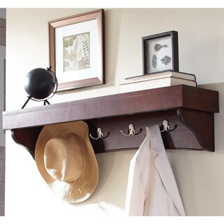 Copper Grove Daintree Coat Hook with Tray Shelf