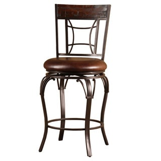 Copper Grove Finnich Wood and Metal Swivel Stool