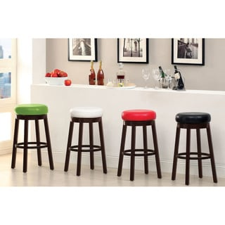 Furniture of America Azio 29-inch Leatherette Swivel Seat Bar Stool (Set of 2)