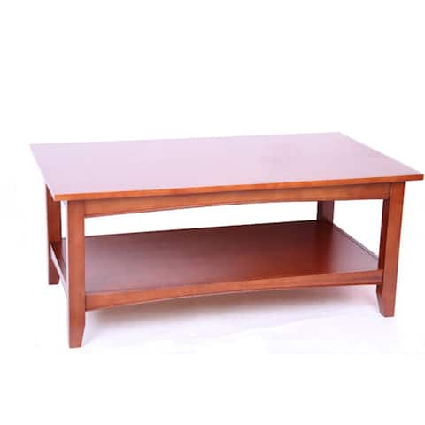 Copper Grove Daintree 42-inch Wood Coffee Table with Shelf