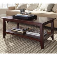 Copper Grove Angelina 42-inch Wood Coffee Table with Shelf