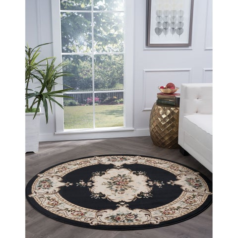 Copper Grove Tunxis Traditional Area Rug - 5'3 Round