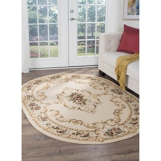 Copper Grove Tunxis Beige Oval Traditional Area Rug - 5'3 x 7'3 Oval