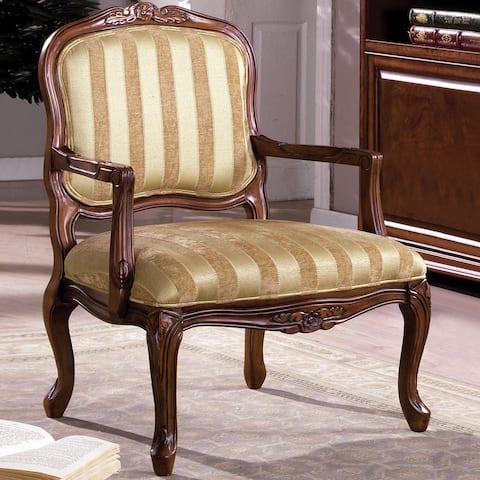 Furniture of America Eiferd Antique Oak Accent Chair