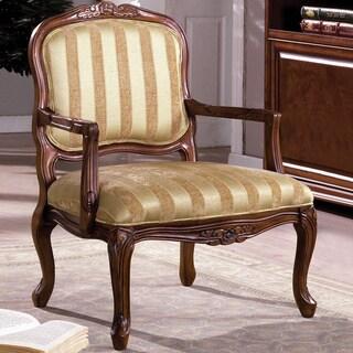 Furniture of America Antique Oak Accent Chair