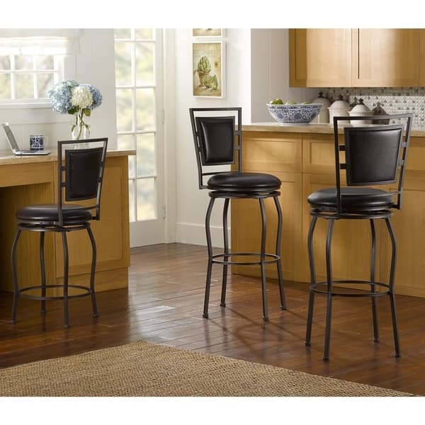 Enjoyable Shop Copper Grove Nantucket Adjustable Bar Stools Set Of 3 Gmtry Best Dining Table And Chair Ideas Images Gmtryco