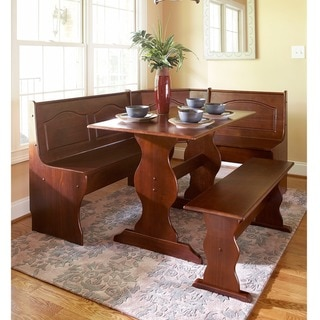 Copper Grove Moens Walnut Finish Wood Dining Nook Set
