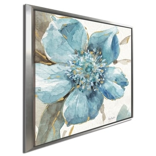 """Lisa Audit """"Indigold VI"""" Giclee Stretched Canvas Wall Art"""