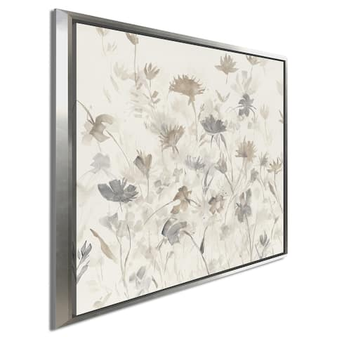 "Avery Tillmon ""Garden Shadows III"" Giclee Stretched Canvas Wall Art"