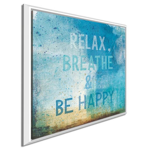 """Michael Mullan """"Beachscape Abstract I"""" Giclee Stretched Canvas Wall Art"""