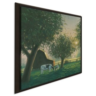 """James Wiens """"Farm Life IV"""" Giclee Stretched Canvas Wall Art"""