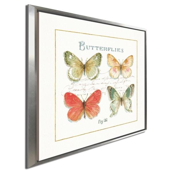 "Lisa Audit ""Rainbow Seeds Butterflies III"" Giclee Stretched Canvas Wall Art"
