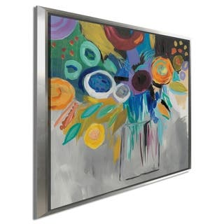 "Farida Zaman ""Burst of Magic"" Giclee Stretched Canvas Wall Art"