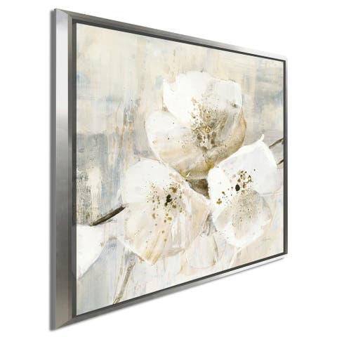 "Albena Hristova ""Elegance III Greige"" Giclee Stretched Canvas Wall Art"