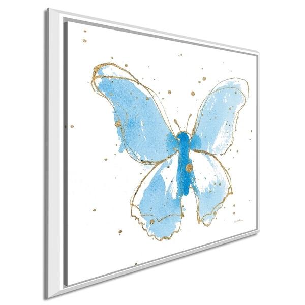 "Shirley Novak ""Gilded Butterflies II"" Giclee Stretched Canvas Wall Art"