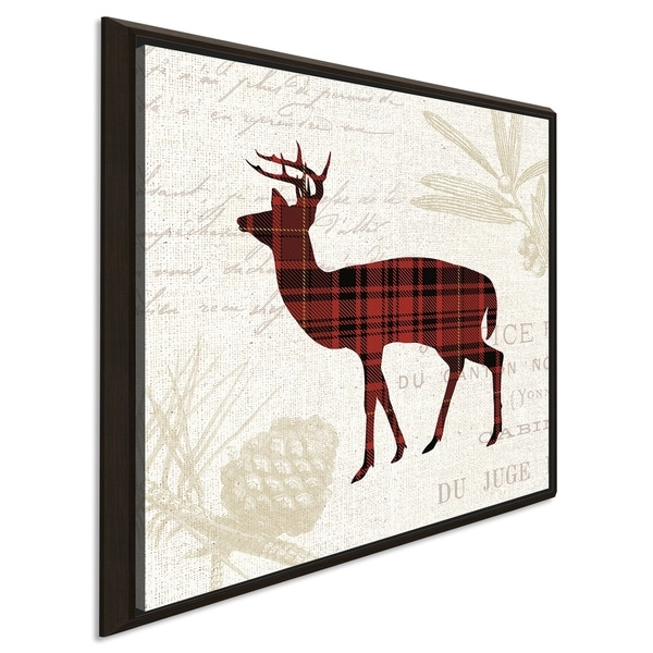 """Plaid Lodge II"" Giclee Stretched Canvas Wall Art"