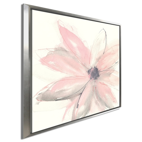 """Chris Paschke """"Blush Clematis I"""" Giclee Stretched Canvas Wall Art"""