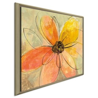 "Silvia Vassileva ""Neon Floral II"" Giclee Stretched Canvas Wall Art"