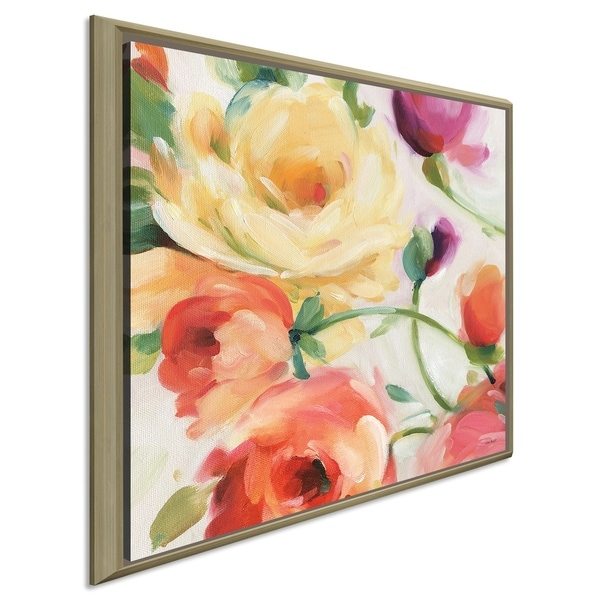 "Lisa Audit ""Florabundance III"" Giclee Stretched Canvas Wall Art"