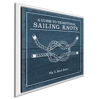 """Mary Urban """"Vintage Sailing Knots III"""" Giclee Stretched Canvas Wall Art"""